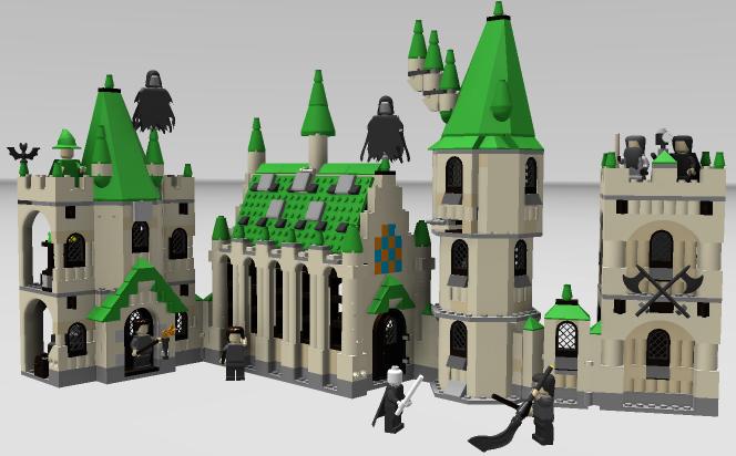 3d Autodesk Instructions Lego Harry Potter Hogwarts Castle